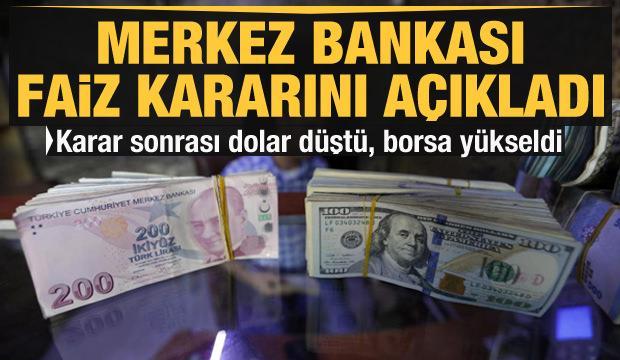 Merkez Bankası faiz kararını açıkladı! Dolardan sert tepki