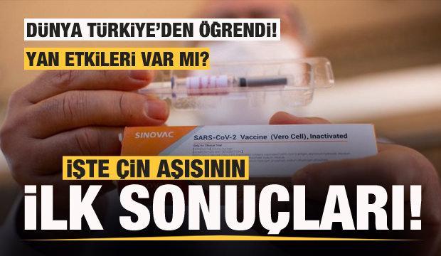 Son dakika: Dünya Türkiye'den öğrendi! İşte Çin aşısının ilk sonuçları