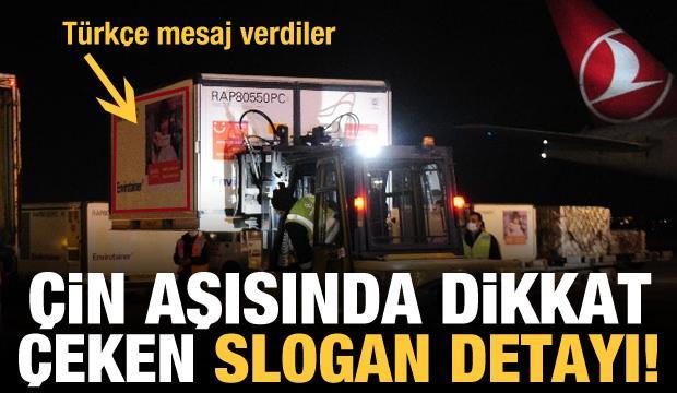 Çin'den Ankara'ya gelen aşılarda dikkat çeken slogan detayı!