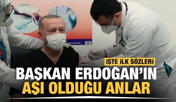 Başkan Erdoğan Kovid-19 aşısı yaptırdı