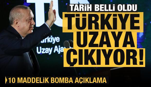 Son dakika: Erdoğan 10 maddede açıkladı! Türkiye uzaya gidiyor! Tarihi gelişme...