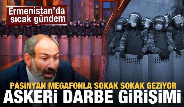 Son dakika haberi: Ermenistan'da darbe girişimi! Ordu muhtıra verdi, peş peşe açıklamalar!