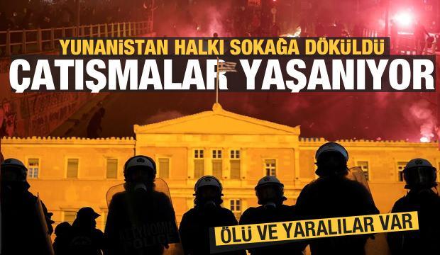 Atina karıştı! Yunanistan halkı sokağa döküldü! Çatışmalar yaşanıyor