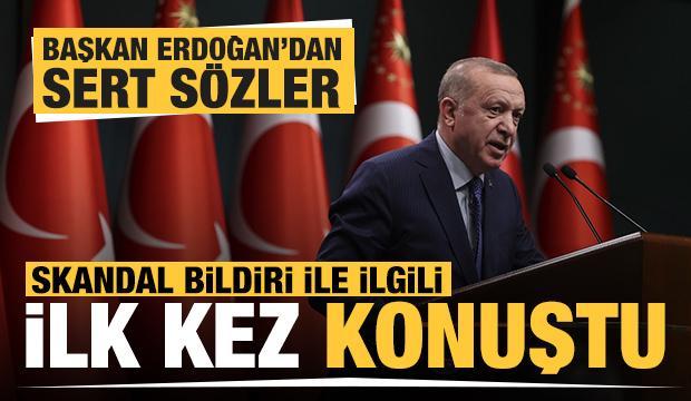 Son dakika haberi... Başkan Erdoğan'dan darbe imalı bildiriyle ilgili ilk açıklama