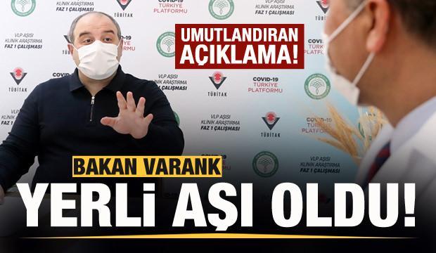 Bakan Varank yerli aşı oldu! Müjdeyi duyurdu