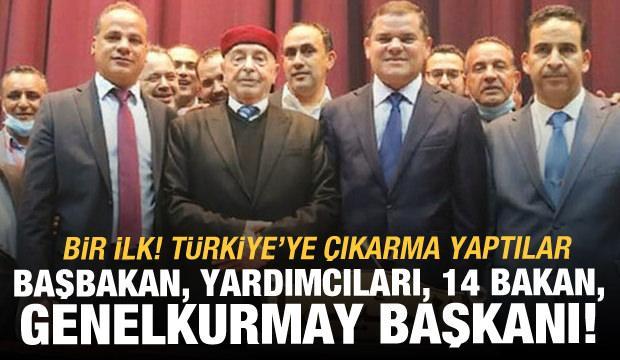 Libya Hükümeti tam kadro Türkiye'ye geldi
