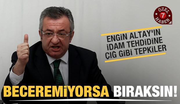 Engin Altay'ın Cumhurbaşkanı Erdoğan'a yönelik sözlerine sert tepkiler