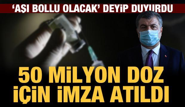 Sağlık Bakanı Koca: 50 milyon doz Sputnik V aşısı için imza atıldı