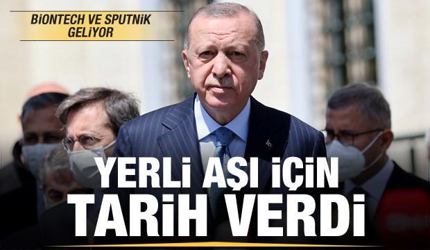 Son dakika: Erdoğan yerli aşı için tarihi duyurdu! Biontech ve Sputnik geliyor