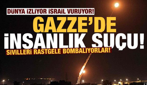 Son dakika: İşgalci İsrail ordusundan Gazze'ye havadan ve denizden saldırı!
