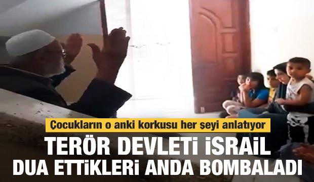 Terör devleti İsrail dua ettikleri anda bombaladı!