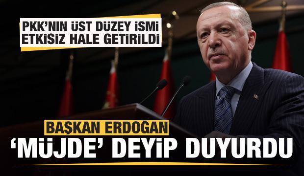 Başkan Erdoğan 'müjde' deyip duyurdu: MİT etkisiz hale getirdi
