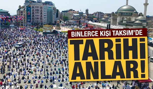 Taksim Camii ibadete açıldı! İşte dikkat çeken anlar...