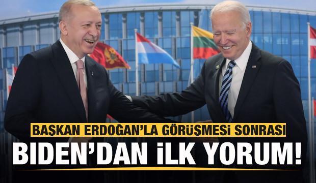 Erdoğan ile görüşmesi sonrası Biden'dan ilk açıklama!
