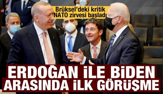 Kritik NATO zirvesi başladı! Biden-Erdoğan arasındaki ilk görüşme