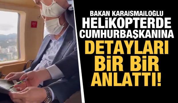 Bakan Karaismailoğlu Erdoğan'ı sel felaketi konusunda böyle bilgilendirdi