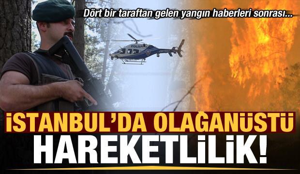 Dört bir taraftan gelen yangın haberleri sonrası İstanbul'da olağanüstü hareketlilik