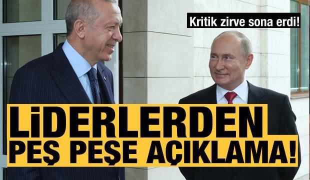 Son dakika: Erdoğan-Putin zirvesi sona erdi! Karşılıklı açıklamalar