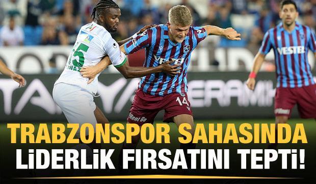 Trabzonspor liderlik fırsatını tepti!