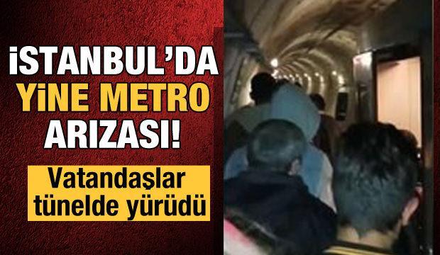 Yine metro skandalı! Vatandaşlar tünelde yürüdü