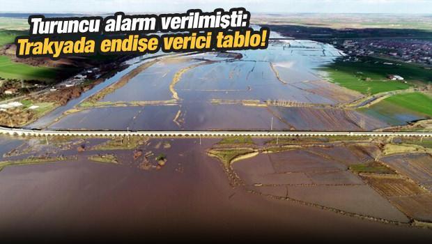 Turuncu alarm verilmişti: Trakya'da endişe verici tablo!