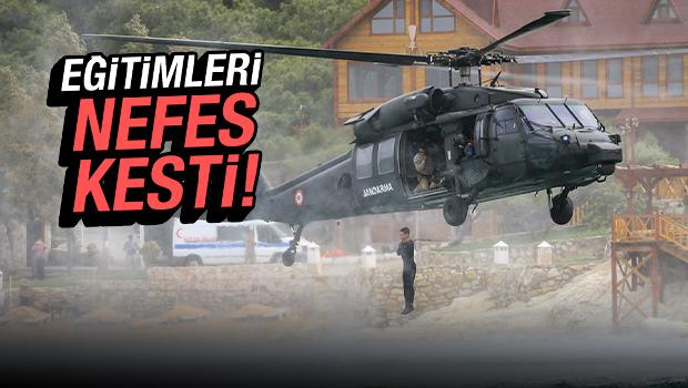 Jandarmanın seçkin komandoları zorlu görevler için zorlu eğitimlerden geçiyor!