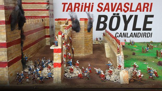 Tarihi savaşları diorama çalışmalarıyla canlandırıyor